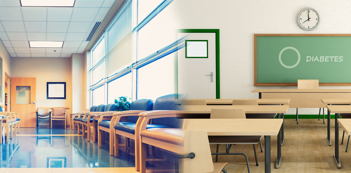 image of waiting room beside classroom