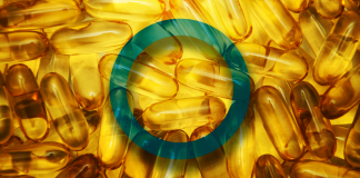 vitamin d and diabetes, image of supplement capsules with diabetes symbol
