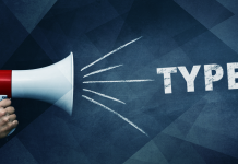 type 1 diabetes; bullhorn showing type 1 over grey background