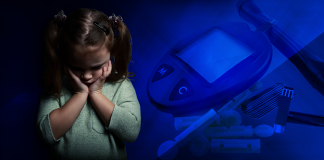 little girl, type 1 diabetes, stressful life event childhood
