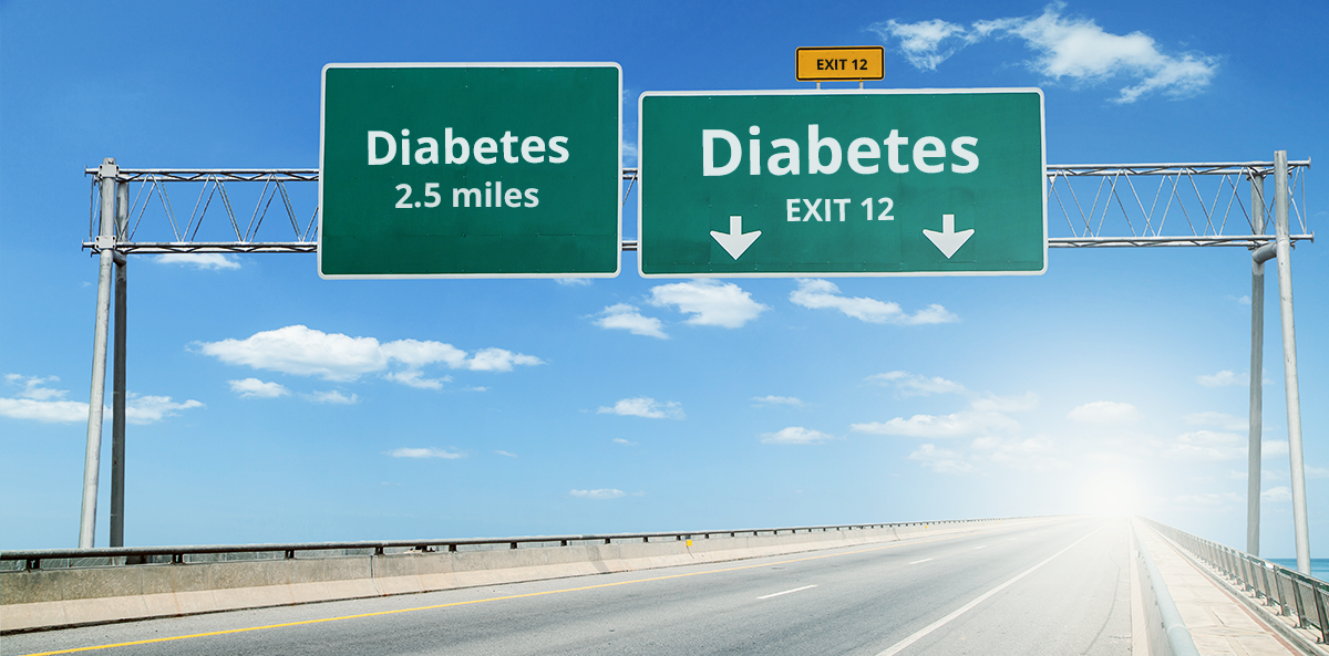 road signs reading diabetes; states with highest diabetes population