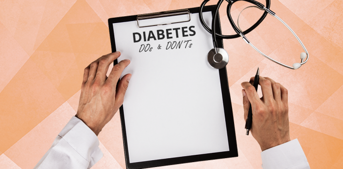 diabetes prevention, diabetes type 2, doctor's clipboard, diabetes do's and don'ts