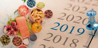 calendar next to food; best diets 2019