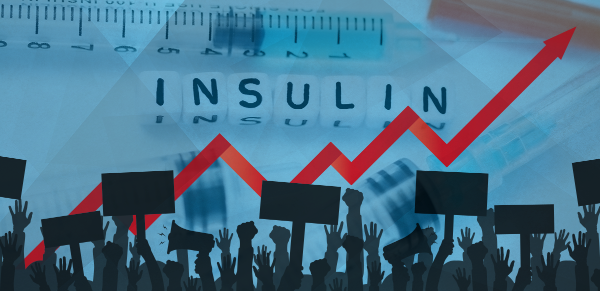patients protesting soaring insulin prices