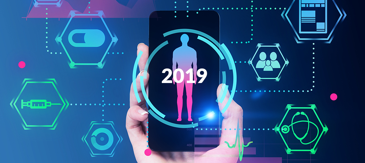 diabetes technology 2019; smartphone with human figure