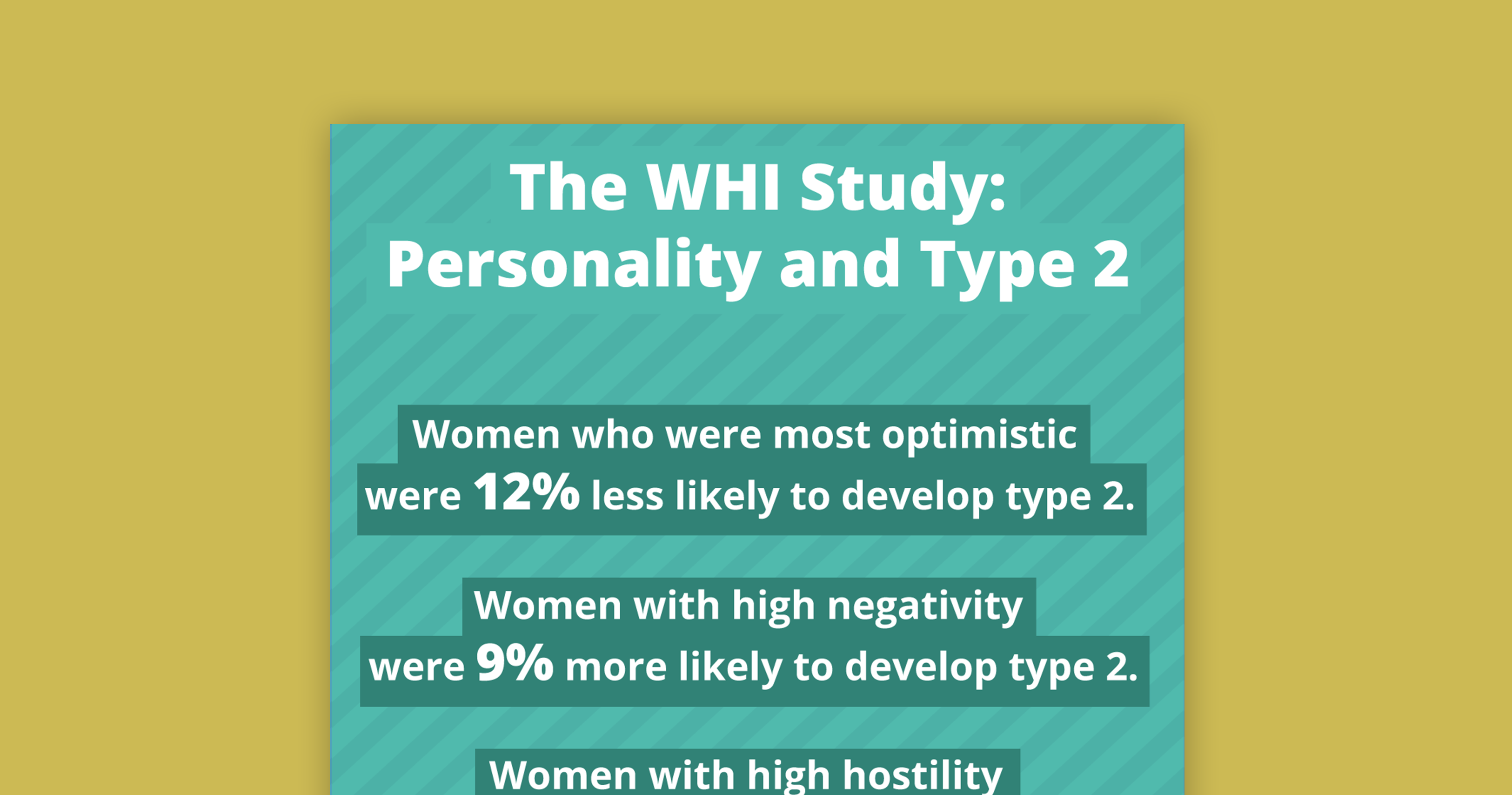 type 2, women, study, optimism