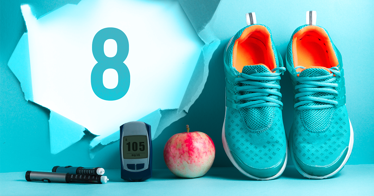 tennis shoes, apple, testing device, type 2 diabetes, diabetes, news, control type 2