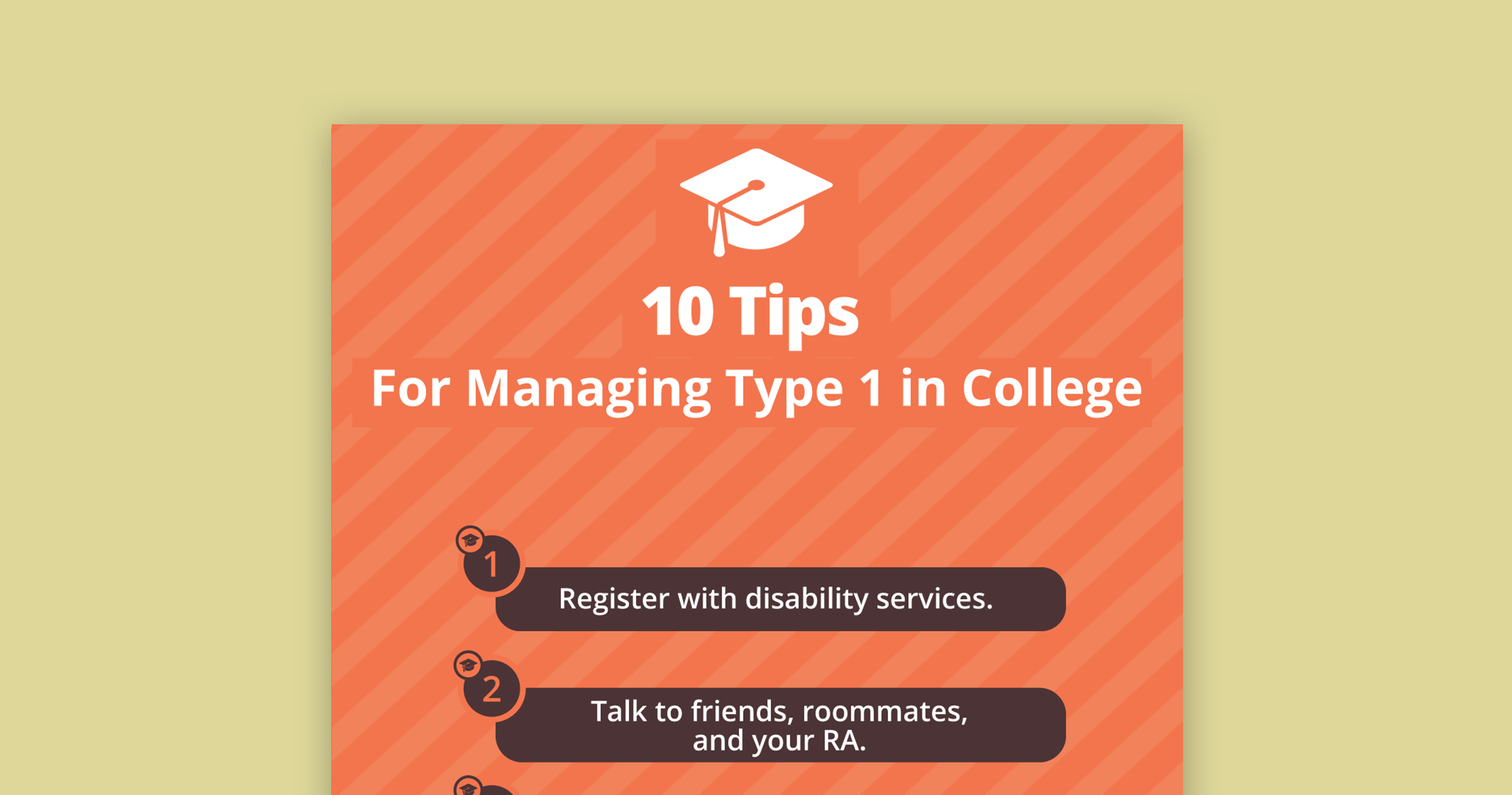 type 1 diabetes, college, tips