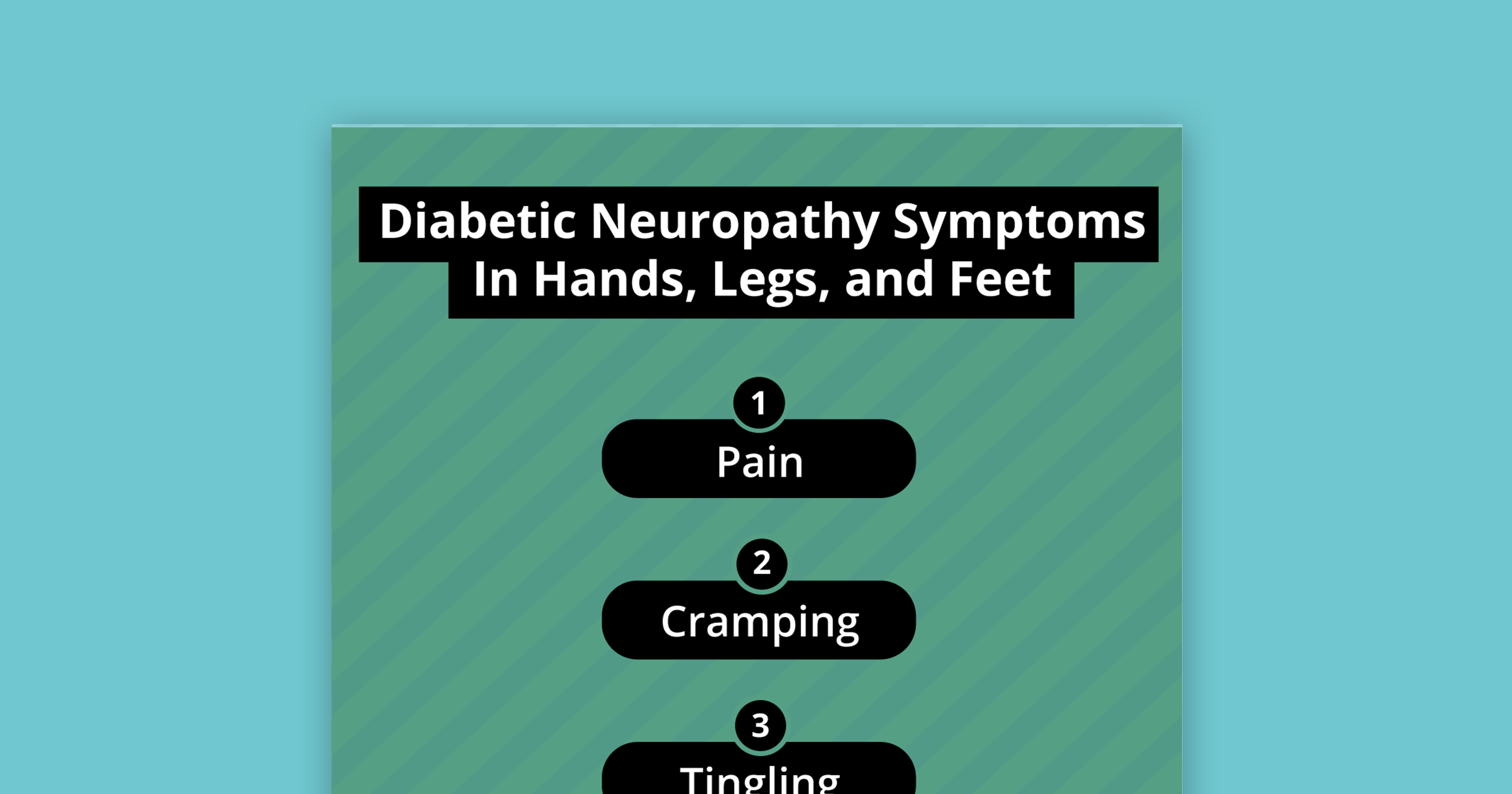 diabetic peripheral neuropathy symptoms