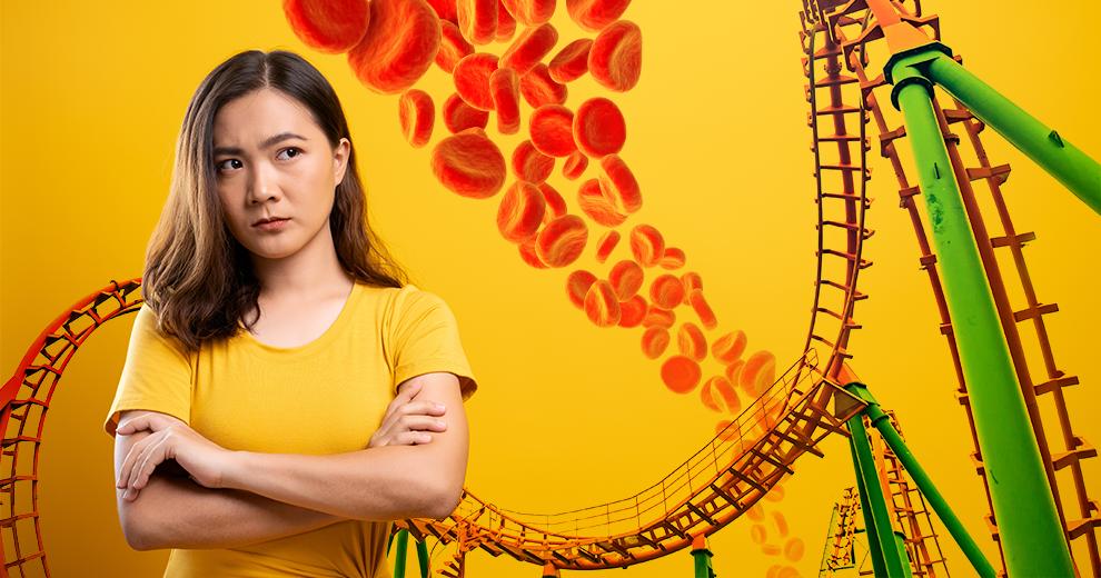 brittle diabetes, roller coaster, blood sugar