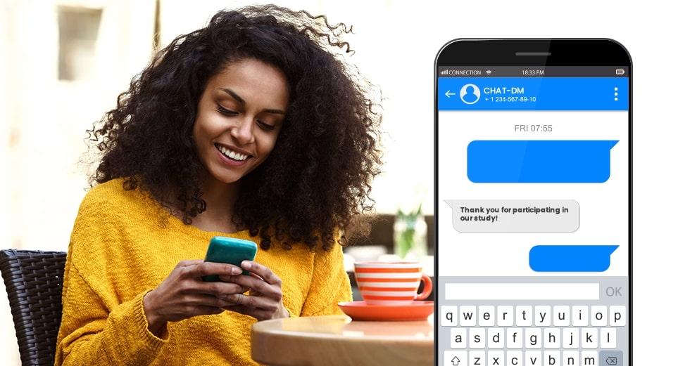 diabetes self management, text messages